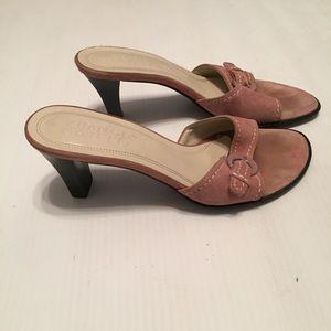 Pink Suede Franco Sarto Heels